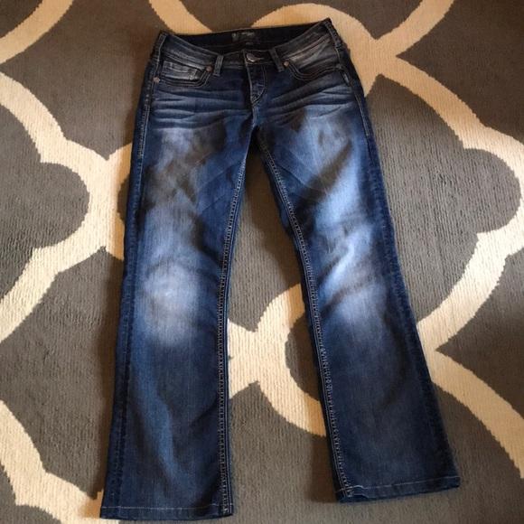SUKI Silver Aiko Mid Rise Boot cut jeans